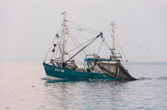Trawler in the wadden Sea Royalty Free Stock Photos