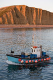 Trawler at West Bay, Dorset Stock Photo