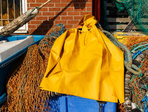 Trawlerman's protective oilskin smock Royalty Free Stock Image