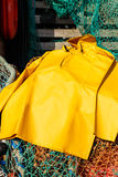 Trawlerman's protective oilskin smock Royalty Free Stock Photography
