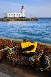 Trawlerman's protective yellow boots Stock Image