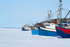 Trawlers in the Bay Stock Photography