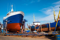 Trawlers at the drydock Stock Photography