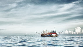 Trawlers Group Royalty Free Stock Photo