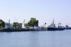 Trawlers in Nessebar Port Royalty Free Stock Photos
