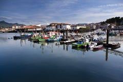 Trawlers in Saint Jean de Luz, France. Trawlers in Saint Jean de Luz harbor, Pays Basque, France Royalty Free Stock Photos