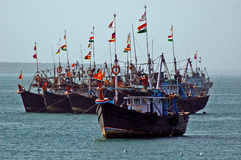 Trawlers on Sea Royalty Free Stock Photography