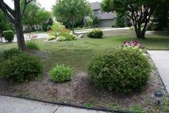 Trawnik przed domem zdjęcie stock