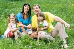 trawnik rodziny obrazy stock