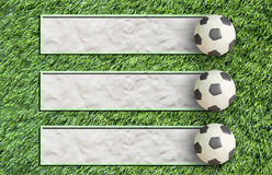 trawy futbolowa plastelina Obrazy Royalty Free