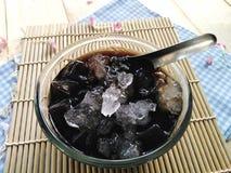 Trawy galareta w syropie z lodem zdjęcie royalty free