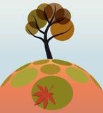 trawy liść drzewo Obraz Royalty Free