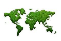 Trawy mapa odizolowywająca na białym tle świat royalty ilustracja
