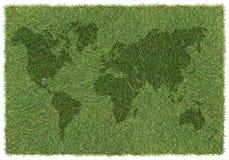 trawy mapy świat Obraz Stock
