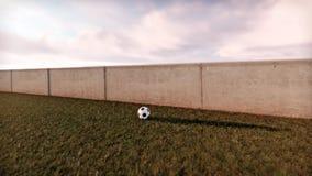 trawy na zielone piłki nożnej Zdjęcie Stock