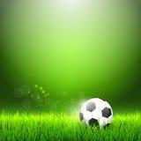 trawy na zielone piłki nożnej Fotografia Stock