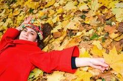 trawy odpoczynkowi kobiety potomstwa zdjęcia royalty free