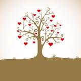 trawy serc gruntowy drzewo Fotografia Royalty Free