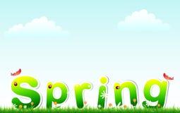 trawy wiosna ilustracji