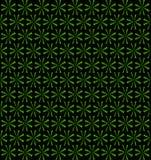Trawy zieleń wiruje fan, kwiecisty okresowy wzór, bezszwowy tło Zdjęcia Royalty Free