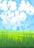trawy zieleń ilustracja wektor