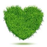 trawy zieleni serce Obrazy Royalty Free