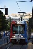 TRAX, sistema ferroviário da luz do ` s da autoridade do transporte de Utá, em Salt Lake City do centro imagem de stock royalty free