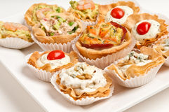 Tray with appetizers Royalty Free Stock Images