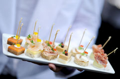 Tray of appetizers. Tray of appetisers for party Royalty Free Stock Photos