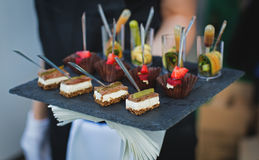 Tray of appetizers Royalty Free Stock Photography