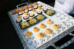 Tray with appetizers Royalty Free Stock Image