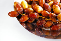 A tray of Arabic dates Stock Photography
