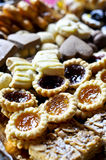 Tray of assorted pastries Royalty Free Stock Photos