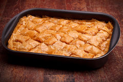 Tray With Baklava Stock Images