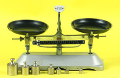 TRAY BALANCE & WEIGHT Royalty Free Stock Photos