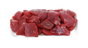 Tray Beef Stew Meat Stock Image