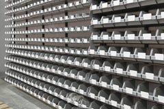 Tray bins storage Royalty Free Stock Photo
