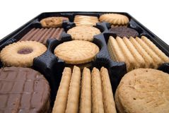 Tray of biscuits Stock Image