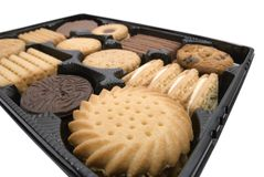 Tray of biscuits Royalty Free Stock Images
