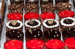 Tray with cakes. Stock Photos