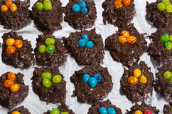 Tray of candy bird nests Royalty Free Stock Photo