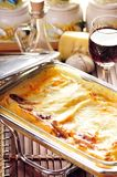 Tray of Cannelloni Pasta Stock Image