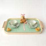 Tray with coffee cups and cookies  Royalty Free Stock Images