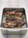 Tray of Confit Duck Legs Stock Photo
