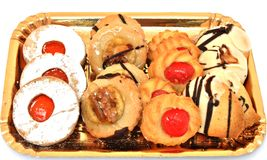 Tray with cookies Stock Photography