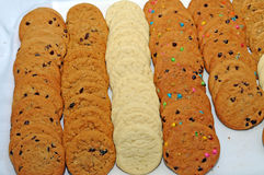 Tray of cookies. Image of a tray of cookies Stock Photo