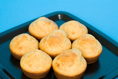 Tray of Corn Muffins Stock Photography