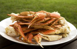 Tray of Crab Legs Stock Image