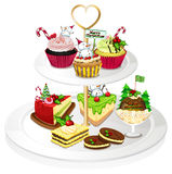 A tray with cupcakes Stock Image