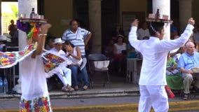 Tray Dance in Merida Yucatan stock video